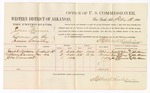 1880 February 18: Voucher, U.S. v. Jonas Burress, larceny in the Indian Country; includes cost of per diem and mileage; Joseph Wilson, Susan Carney, and John Greenwood, witnesses; John Paterson, witness of signatures; D.P. Upham, U.S. marshal; Stephen Wheeler, commissioner