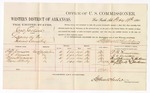 1880 February 19: Voucher, U.S. v. Jane Jackson, larceny in the Indian Country; includes cost of per diem and mileage; P.B. Kinnison, A.C. Kinnison, Mary Kinnison, and Mary Alberty, witnesses; John Paterson, witness of signatures; D.P. Upham, U.S. marshal; Stephen Wheeler, commissioner