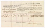 1880 February 19: Voucher, U.S. v. San Duncan and Lewis Webster, introducing spirituous liquors; includes cost of per diem and mileage; Nathan Colbert and Hamilton Woods, witnesses; John Paterson, witness of signatures; D.P. Upham, U.S. marshal; Stephen Wheeler, commissioner