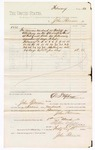 1880 March 01: Voucher, to John Paterson; includes cost for services rendered as bailiff in attendance in the U.S. district court; D.P. Upham, U.S. marshal; Stephen Wheeler and G.S. Williams, clerks