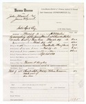 1880 March 31: Partial voucher, U.S. v. John Marrel and James Marrel, introducing spirituous liquors into Indian Country; includes cost of warrant, mileage, and feeding one prisoner; Thomas R. Hughes, posse comitatus; Nelson Foreman, witness; served by H.C. Martin, U.S. deputy marshal; Stephen Wheeler, commissioner