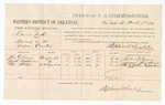 1880 March 10: Voucher, U.S. v. David Tucker, larceny in the Indian Country; includes cost of per diem and mileage; John E. Turner, Joseph Fondhrine, and Peter Stedham, witnesses; John Paterson, witness of signatures; D.P. Upham, U.S. marshal; Stephen Wheeler, commissioner