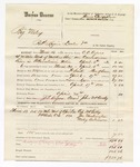 1880 April 21: Voucher, U.S. v. Big Wiley, retail liquor dealer; includes cost of warrant, mileage, and feeding one prisoner; John McCarthy, guard; J.G. Ayers, posse comitatus; Cap McGilly, James Washington, and Wiley Anderson, witnesses; served by C.C. Ayers, U.S. deputy marshal
