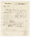 1880 April 23: Partial voucher, U.S. v. George Davis, retail liquor dealer in the Indian Country; includes cost of warrant, mileage, and feeding one prisoner; J.G. Ayers, posse comitatus; Josiah Vann and Charles Thompson, witnesses; served by C.C. Ayers, U.S. deputy marshal; James Brizzolara, commissioner