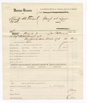 1880 March 17: Partial voucher, U.S. v. Moritz M. Freed, et.al; includes costs of summons; served by John Paterson, U.S. deputy marshal