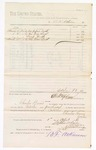1880 April 1: Voucher, to B.F. Atkinson; includes cost of paper, locks, and lamp wicks; Charles Burns, jailor; D.P. Upham, U.S. marshal; Stephen Wheeler, clerk
