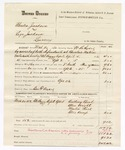 1880 April 26: Voucher, U.S. v. Charles Jackson and Levi Jackson, larceny in the Indian Country; includes cost of mileage, feeding one prisoner, and warrant; Ben F. Ayers, posse comitatus; Anthony Carol, Allen Wright, Martin Dick, and Ellis Kemp, witnesses; served by W.R. Ayers, U.S. deputy marshal; Stephen Wheeler, commissioner