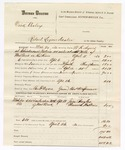 1880 April 26: Voucher, U.S. v. Dick Cooley, retail liquor dealer in the Indian Country; includes cost of mileage, feeding one prisoner, and warrant; Ben F. Ayers, posse comitatus; Charles M. Spencer, guard; Jim Broyles and Alwanie Walkers, witnesses; served by W.R. Ayers, U.S. deputy marshal; Stephen Wheeler, commissioner