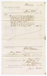 1880 March 31: Voucher, to James Waters; includes cost of services rendered as bailiff in attendance before the U.S. district court; D.P. Upham, U.S. marshal; Stephen Wheeler, clerk