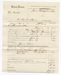 1880 June 21: Voucher, U.S. v. One Barker, violation internal revenue laws; includes cost of warrant, mileage, and feeding one prisoner; James Wheeler, posse comitatus; John Beadly and Charley Laumb, witnesses; served by J.H. Berry, U.S. deputy marshal; James Brizzolara, commissioner
