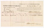 1880 April 01: Voucher, U.S. v. Ed Welch, introducing spirituous liquor; includes cost of per diem and mileage; Nelson Foreman, witness; John Paterson, witness of signature; D.P. Upham, U.S. marshal; Stephen Wheeler, commissioner