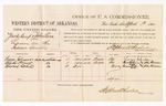 1880 April 1: Voucher, U.S. v. Zack Kemp and John Ross, larceny in the Indian Country; includes cost of per diem and mileage; George Foreman, Charles Prince, and Edward Cohee, witnesses; John Paterson, witness of signatures; D.P. Upham, U.S. marshal; Stephen Wheeler, commissioner