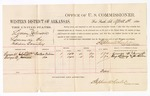 1880 April 03: Voucher, U.S. v. Lyman Johnson, larceny; includes cost of per diem and mileage; George W. Scruggs and George M.. Scruggs, witnesses; John Paterson, witness of signatures; D.P. Upham, U.S. marshal; Stephen Wheeler, commissioner
