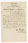 1880 August 5: Letter of oath, from N. Dell, U.S. marshal, certifying his delivery of a list of petit jurors in attendance for U.S. v. Charles Palmer, murder