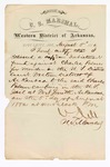 1880 August 5: Letter of oath, from N. Dell, U.S. marshal, certifying his delivery a copy of indictment for U.S. v. Charles Palmer, murder