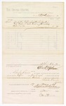 1880 May 17: Voucher, to Ott V. Meier; includes cost of coffin; D.P. Upham, U.S. marshal; Charles Burns, jailor; Stephen Wheeler, clerk