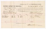 1880 April 19: Voucher, U.S. v. William Arnold, introducing spirituous liquors into Indian Country; includes cost of per diem and mileage; A.T. Hodge and L.B. Ryle, witnesses; D.P. Upham, U.S. marshal; Stephen Wheeler, commissioner