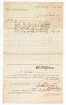 1880 May 03: Voucher, to J.P. Clarke; includes cost of services rendered as crier before U.S. district court; D.P. Upham, U.S. marshal; Stephen Wheeler, clerk