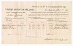 1880 April 20: Voucher, U.S. v. Arthur Stewart, passing counterfeit money; includes cost of per diem and mileage; Robert B. Wilson, George Stein, and William T. Sallar, witnesses; D.P. Upham, U.S. marshal; Stephen Wheeler, commissioner