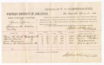 1880 April 21: Voucher, U.S. v. Kimia Nixon, larceny in the Indian Country; includes cost of per diem and mileage; Charles W. Smith, Daniel Tucker, Lewis Perryman, and Anderson McIntosh, witnesses; D.P. Upham, U.S. marshal; Stephen Wheeler, commissioner