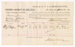 1880 April 22: Voucher, U.S. v. Benjamin King, violating internal revenue laws; includes cost of per diem and mileage; John Loses and George Wafford, witnesses; D.P. Upham, U.S. marshal; Stephen Wheeler, commissioner