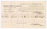 1880 April 20: Voucher, U.S. v. Albin C. Williams, violation serc. 2891 R.T.; includes cost of per diem and mileage; Thomas J. Wyatt and Henry B. Vasey, witnesses; D.P. Upham, U.S. marshal; Isaac C. Parker, judge
