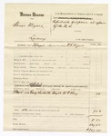 1880 May 26: Partial voucher, U.S. v. George Myers, larceny in the Indian Country; includes cost of mileage and subpoenaed witness; W.T. Clay, witness; served by W.R. Ayers, U.S. deputy marshal