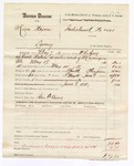 1880 June 8: Partial voucher, U.S. v. Kina Nixon, larceny in the Indian Country; includes cost of warrant, mileage, and feeding one prisoner; Ben F. Ayers, posse comitatus; served by W.R. Ayers, U.S. deputy marshal