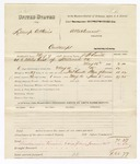 1880 June 5: Partial voucher, U.S. v. Lemp Atkius, contempt; includes cost of warrant, mileage, and feeding one prisoner; served by J.F. Smith, U.S. deputy marshal