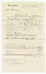 1880 June 29: Voucher, U.S. v. Alex Mahardy, introducing spirituous liquors; includes cost of mileage, feeding one prisoner, and committing to jail; Ed Jones, posse comitatus; Anderson Butter and Lizzie Butter, witnesses; J.W. Searle, U.S. deputy marshal; Stephen Wheeler, commissioner
