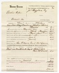 1880 June 14: Voucher, U.S. v. Cornelius Depar, assault with intent to kill in the Indian Country: includes cost of mileage, feeding one prisoner, and committing to jail; Ben F. Ayers, posse comitatus; Charles Duncan, guard; Robert Kile and Frank McDonald, witnesses; W.R. Ayers, U.S. deputy marshal; Stephen Wheeler and James Brizzolara, commissioners