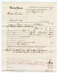 1880 June 11: Voucher, U.S. v. Buddy Pursley, assault with intent to kill; includes cost of mileage, feeding one prisoner, and discharging prisoner; Ben F. Ayers, posse comitatus; Hiram M Birde and Lewis Bunch, witnesses; W.R. Ayers, U.S. deputy marshal; Stephen Wheeler and James Brizzolara, commissioners