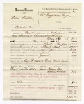 1880 June 11: Partial voucher, U.S. v. Nelson Winters, assault with intent to kill in the Indian Country; includes cost of mileage, feeding one prisoner, and discharging prisoner; Ben F. Ayers, posse comitatus; Frank Tucker, witnesses; W.R. Ayers, U.S. deputy marshal; Stephen Wheeler and James Brizzolara, commissioners