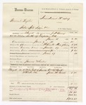 1880 June 17: Voucher, U.S. v. General Taylor, introducing spirituous liquors; includes cost of mileage, feeding one prisoner, and committing to jail; James Wheeler, posse comitatus; William R. Beck and Jesse M. Beck, witnesses; J.H. Berry, U.S. deputy marshal