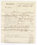 1880 June 17: Partial voucher, U.S. v. One Laners, larceny in the Indian Country; includes cost of mileage, feeding one prisoner, and committing to jail; James Wheeler, posse comitatus; Allen Holman, guard; Reuben Bowlin and Jim McCoy, witnesses; J.H. Berry, U.S. deputy marshal; Stephen Wheeler and James Brizzolara, commissioners