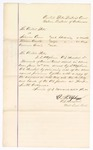 1880 June 21: Voucher, to D.P. Upham, U.S. marshal, for warrants issued in U.S. v. Solomon Cove, introducing spirituous liquors, U.S. v. William Arnold, introducing spirituous liquors, and U.S. v. Anderson Burris