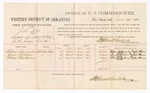 1880 June 29: Voucher, U.S. v. John Hill, assault with intent to kill; includes cost of per diem and mileage; William Alexander, Jane Graham, and Rhoda Clayborne, witnesses; John Paterson, witness of signatures; D.P. Upham, U.S. marshal; Stephen Wheeler, commissioner