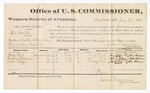1880 July 09: Voucher, U.S. v. Eli Smith, assault with intent to kill; includes cost of per diem and mileage; George Best, Harrison Foreman, and John Biggs, witnesses; John Paterson, witness of signatures; D.P. Upham, U.S. marshal; James Brizzolara, commissioner