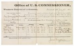 1880 July 17: Voucher, U.S. v. Mary Greenwood, Allen Brown, et.al, larceny in the Indian Country; includes cost of per diem and mileage; J.W. Ross, Samuel Davis, R.D. Kenneda, and Dixie Ross, witnesses; John Paterson, witness of signatures; V. Dell, U.S. marshal; James Brizzolara, commissioner