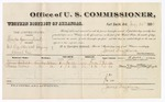 1880 July 26: Voucher, U.S. v. Charles Gunnyhead, retail liquor dealer without paying special tax; includes cost of per diem and mileage; James Seabolt (line through name) and Mosts Morris, witnesses; J.M. Huffington, witness of signature; V. Dell, U.S. marshal; James Brizzolara, commissioner