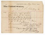 1880 July 30: Voucher, to J.P. Clarke; includes cost for services rendered as crier in attendance before the U.S. court; Stephen Wheeler and G.S. Williams, clerk; V. Dell, U.S. marshal