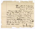 1880 August 03: Letter of certification, from V. Dell, U.S. marshal, certifying his deliverance of list of petit jurors for U.S. v. William Moore, rape