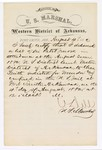 1880 August 4: Letter of certification, from V. Dell, U.S. marshal, certifying his deliverance of list of petit jurors for U.S. v. Charles Smith, murder