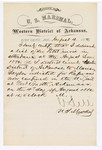 1880 August 4: Letter of certification, from V. Dell, U.S. marshal, certifying his deliverance of list of petit jurors for U.S. v. Marion Taylor, rape
