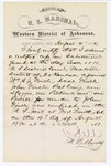 1880 August 04: Letter of certification, from V. Dell, U.S. marshal, certifying his deliverance of list of petit jurors for U.S. v. William A.J. Frinch, Dash Frinch, John Frinch, Dab Craig, One Maggio, One Pickens, and One Poevee, murder