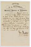 1880 August 14: Letter of certification, from V. Dell, U.S. marshal, certifying his deliverance of list of petit jurors for U.S. v. Marion Taylor, rape