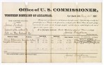 1880 August 14: Voucher, U.S. v. James Perdue, assault with intent to kill; includes cost of per diem and mileage; Alonzo Williamson and Margaret Williamson, witnesses; James Huffington, witness of signatures; V. Dell, U.S. marshal; James Brizzolara, commissioner