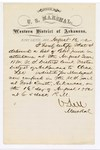 1880 August 16: Letter of certification, from V. Dell, U.S. marshal, certifying his deliverance of list of petit jurors for U.S. v. Charles Lee, murder