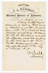 1880 August 17: Letter of certification, from V. Dell, U.S. marshal, certifying his deliverance of list of petit jurors for U.S. v. M.R. Pickens, murder