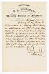 1880 August 17: Letter of certification, from V. Dell, U.S. marshal, certifying his deliverance of list of petit jurors for U.S. v. John Finch, murder